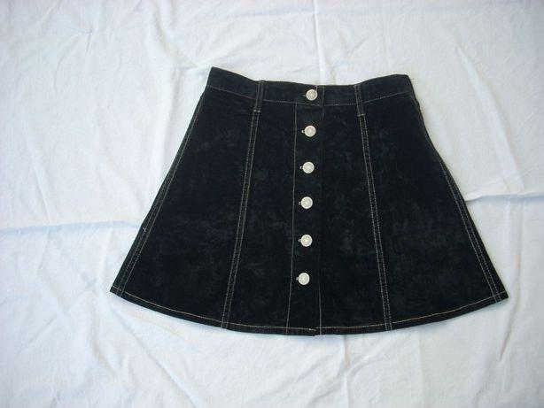 Spódnica zamsz koło welur S 36 j.H&M Zdjęcie na imgED