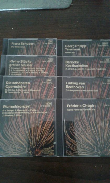 8 CDs de musica clássica