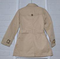 Zara płaszcz dziewczęcy trencz beż nowy dwurzędowy r.128 8