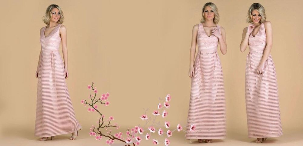 Vestido cerimónia Rosa Nude marca origem tamanho S nunca usado - com