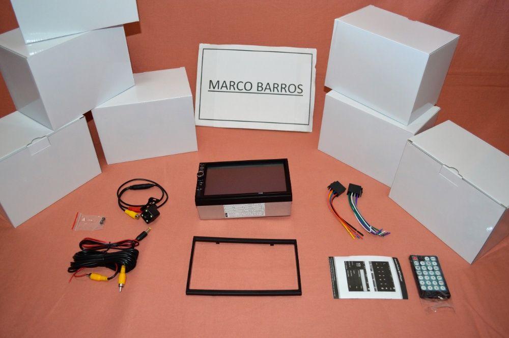 """Rádio 2DIN 7"""" Oferta Câmera + MOLDURA - Bluetooth USB Micro SD Paranhos - imagem 2"""