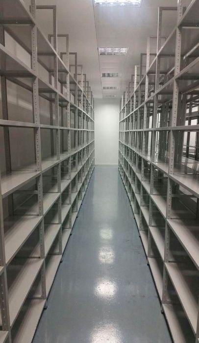Estante encaixe metálica carga ligeira pastas arquivo caixas arrumação