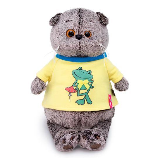 Кот Басик в джинсах с подтяжками 22см с доставкой в Барнауле | 540x540