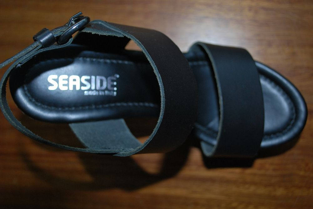 Sandálias pretas Seaside, º 37 à venda Malas, Calçado
