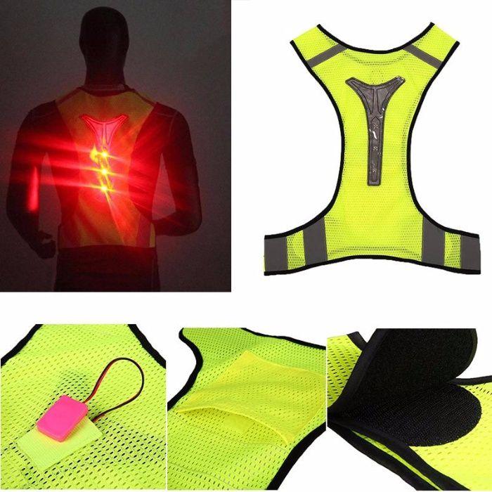 2993728536 Colete Refletor com LEDs para Caminhadas Running - NOVO Mafra - imagem 2