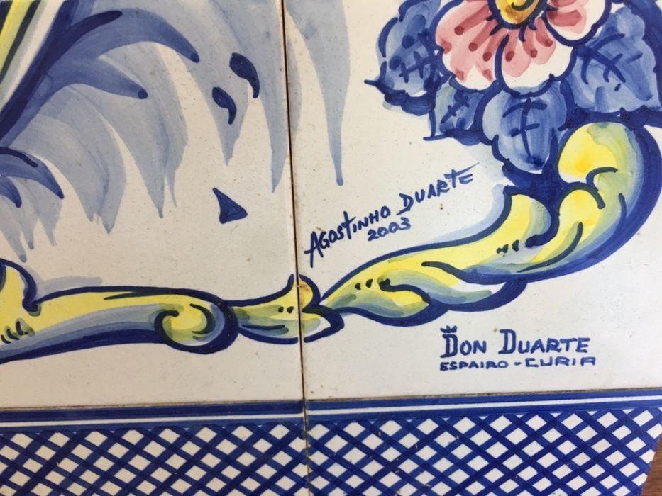 Magnífico painel de Azuleijos , pintado á mão, assinado Mindelo - imagem 7