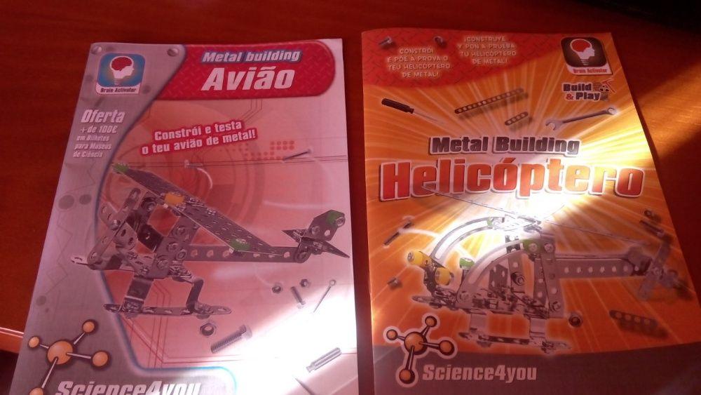 Lote 2 Manuais Science 4 You Avião e Helicopetro