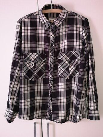 Cropp Koszula w kratę grunge Czarny damska Ceny i