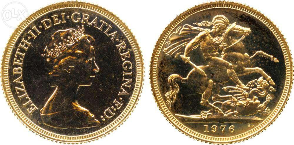 eec16807ea3 Libra Ouro (1976) + meia Libra Ouro (1903)