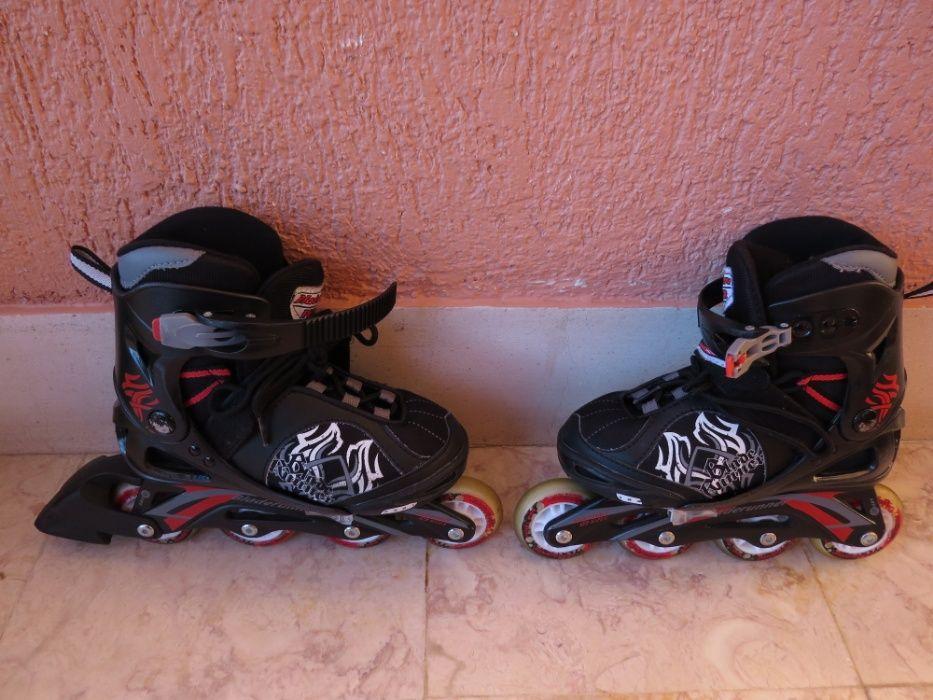 Patins em linha Bladerunner Phaser XR - Black/Red.