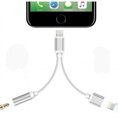 Adaptador 2 em 1 para Iphone 7 (auriculares + carregamento)