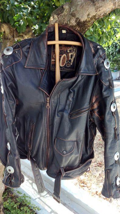 Casaco motard cabedal usado