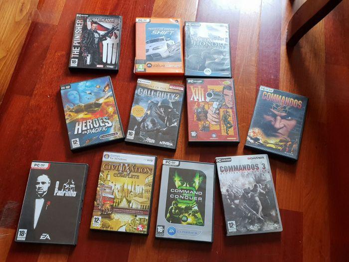 Jogos PC clássicos em caixa original