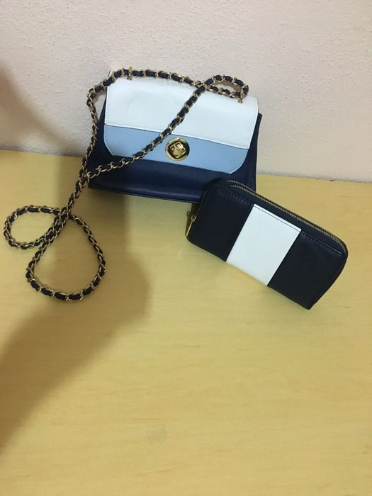 Conjunto mala + porta moedas (marinheiro)