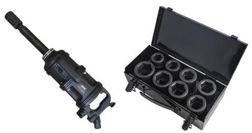 Pistola pneumática para pesados + Conjunto de chaves de impacto