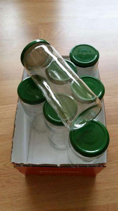 8 frascos de vidro limpos