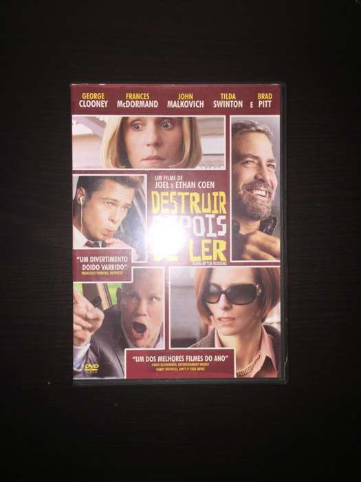 """DVD """"Destruir depois de ler"""" (como novo)"""