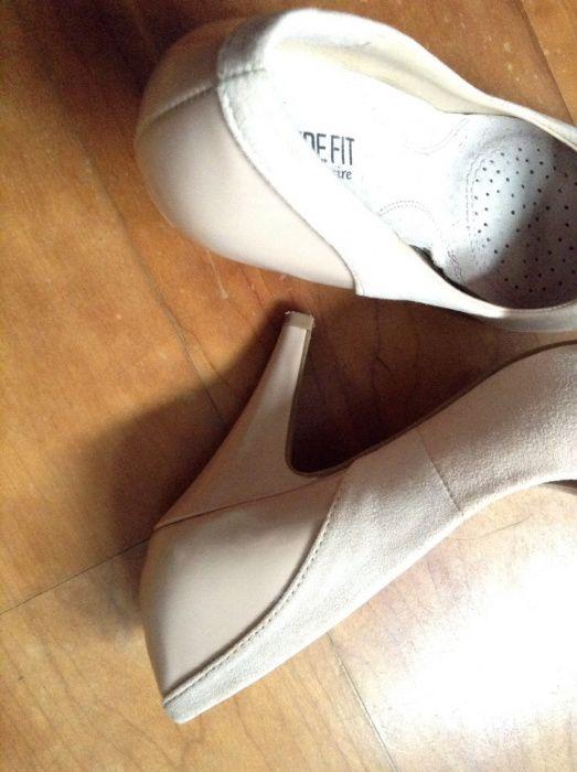 Sapatos salto alto Rosa creme
