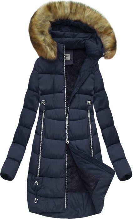 Kurtka płaszcz zimowa GRANATOWA CZARNA S,M,L,XL Staszowice