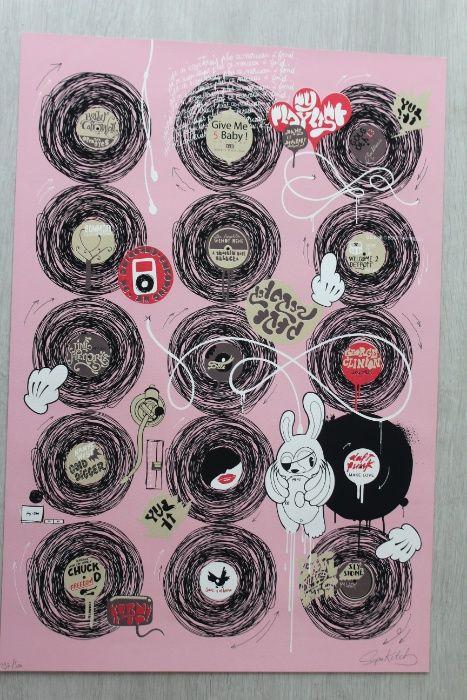 Arte Urbana Serigrafia SUPAKITCH - Minha Lista de Reprodução (2007)