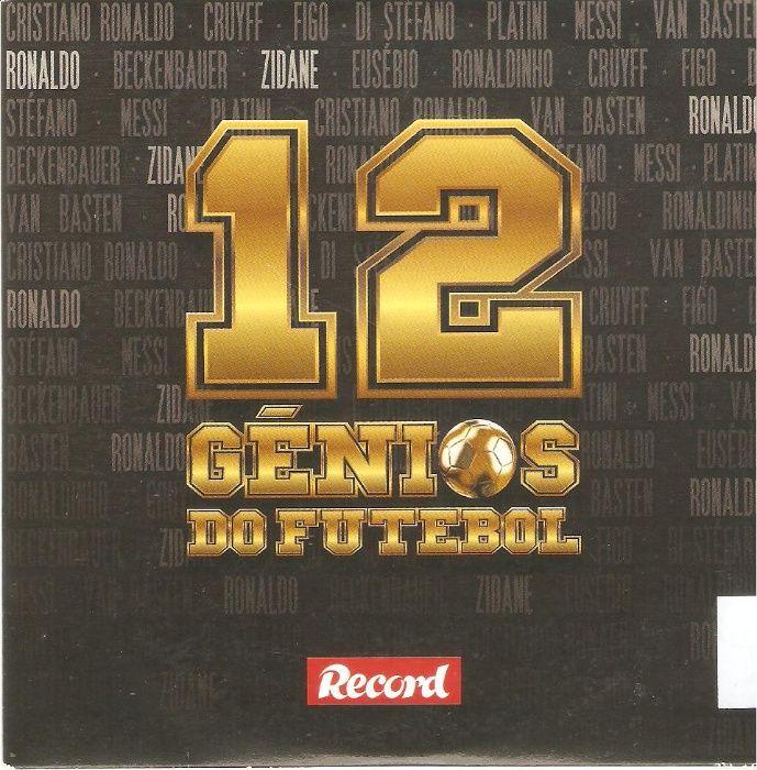 """5 DVDs """"12 Génios do Futebol"""""""
