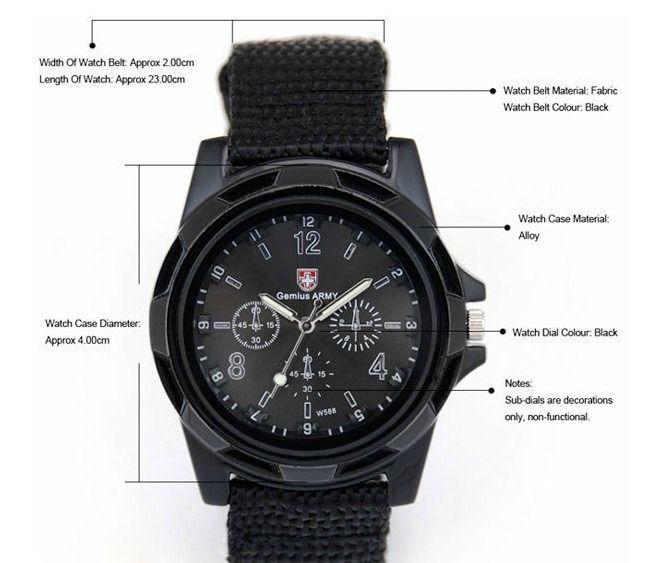 b61ef741de0 Z170 Relógio de Pulso Militar - Genius Army
