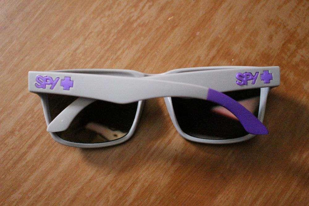d0d1626f2943d Óculos de sol SPY Ken Block - Cinza   Logo Roxo (NOVO) Corroios ...