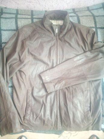 Кожаная легкая куртка