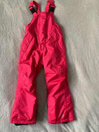 Spodnie zimowe, narciarskie rozm. 110/116
