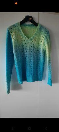 Ażurkowy cieniowany sweterek. Nowy