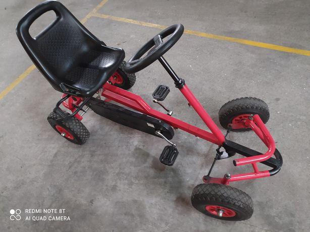 Kart/Carrinho a pedais/rodas de borracha