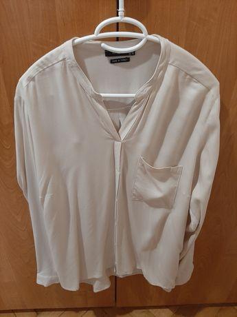 Bluzka koszulowa beżowa Reserved