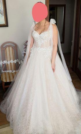 Suknia ślubna Angelo Bianco model Tasha wraz z halką na dwóch kołach