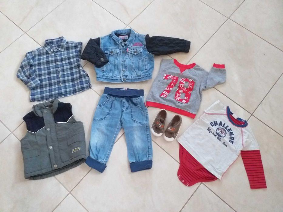 Bluzka body kurtka kamizelka buciki r 23 dla chłopca r 80-86 Chojnice - image 1
