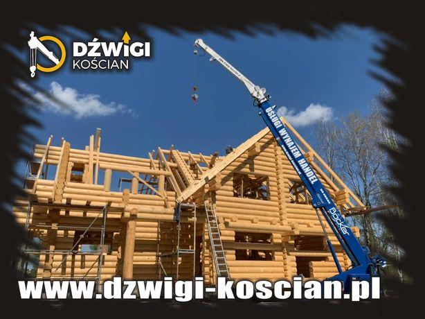 Domy drewniane   szkieletowe usługi dźwig dekarski żuraw ciesielski