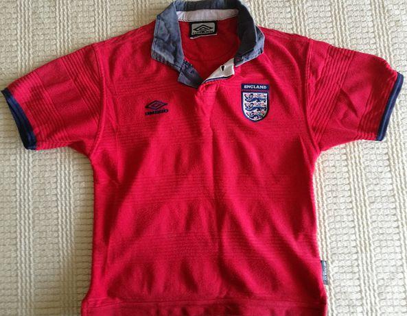 UMBRO ENGLAND Koszulka Polo ROZMIAR 128-134 XS Męska Czerwona SUPER