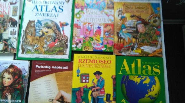 Książki , bajki, atlasy dla dzieci