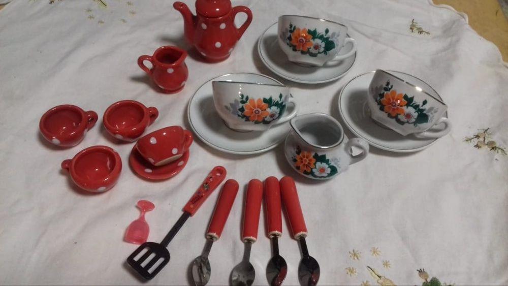 Детская посудка для кукол фарфоровая ссср Киев - изображение 1