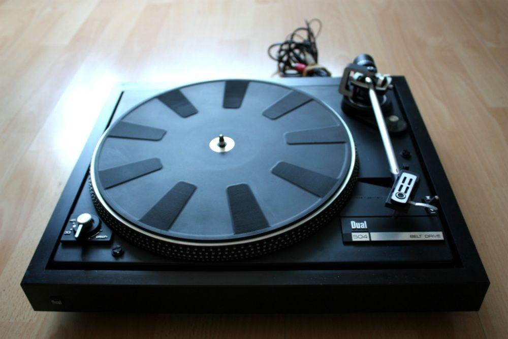 Gramofon Dual 504 winyl, wkładka Ortofon OMB 5 + płyta winylowa gratis