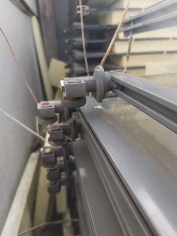 Szyby hartowane 1180/840/7 mm z szynami mocujacymi