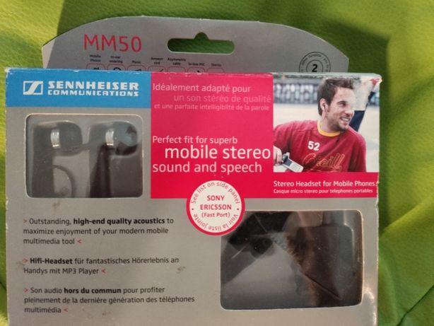 Słuchawki douszne Sennheiser MM50 wtyczka Sony Ericsson