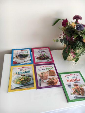 Zestaw książek kucharskich 5 szt./Zdrowa Kuchnia,odchudzanie, Fit/Nowe