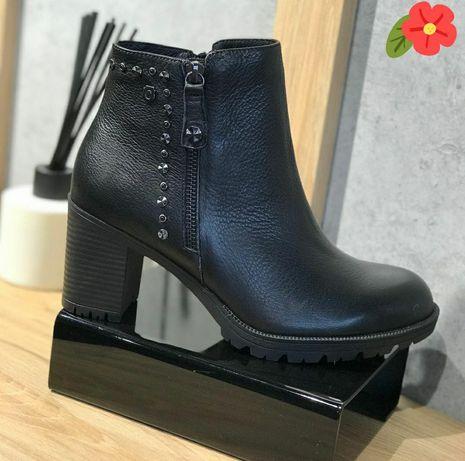 Кожаные ботильоны ботинки Carmela 36р!