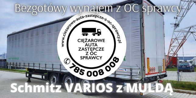 Bezgotówkowy wynajem z OC naczepa Schmitz VARIOS + MULDA