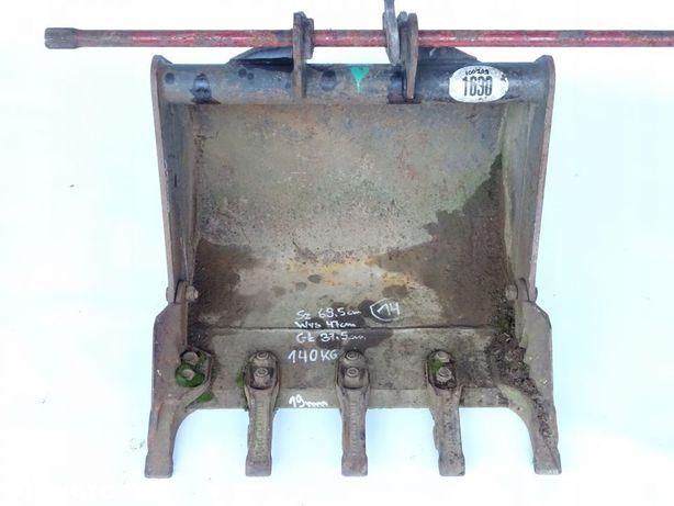 ŁYŻKA KOPARKA 3,5-5 T SZERKOŚĆ 69,5cm SWORZEŃ 35mm
