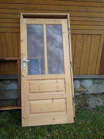 Drzwi drewniane z futrynami Podhale - niestandardowy wymiar
