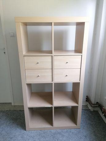 Regał KALLAX IKEA + 2 wkłady