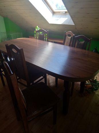 Duży stół i 10 krzeseł