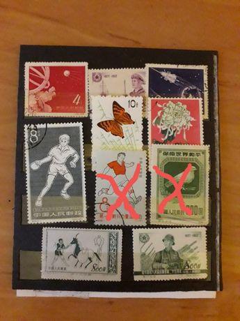Kolekcja znaczki chińskie