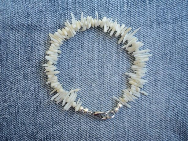 белый браслет из коралла Натуральный коралл